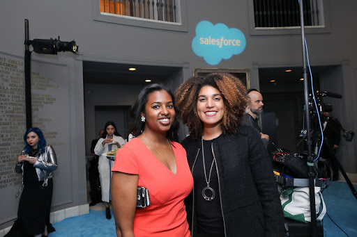 Attendees enjoying the Salesforce Equality Awards reception