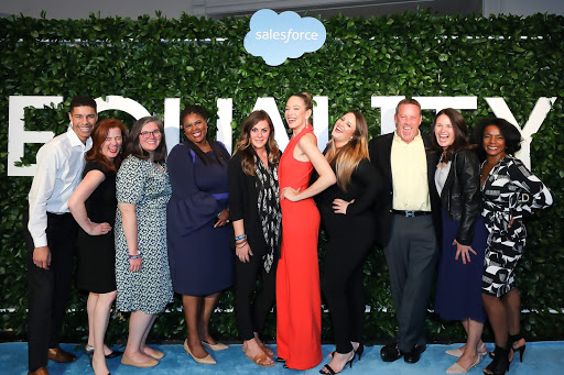 Group shot of Salesforce Equality Awards attendees
