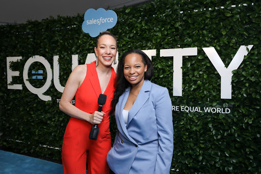 Equality Awards co-host Alexandra Legend Siegel, Senior Manager, Equality Content and Narrative at Salesforce and Rakia Finley, Co-Founder, Fin Digital and Salesforce MVP