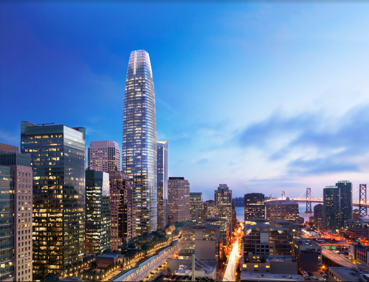 "Celebrating the ""Topping Off"" of Salesforce Tower, Tallest Office Building West of Chicago"