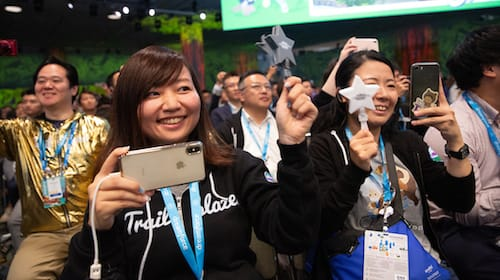 Photo of Trailblazers at a Salesforce event
