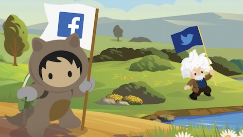Illustration of Astro and Einstein with social media icons