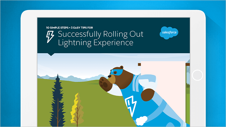"Image that says ""Successfully Rolling Out Lightning Experience"""