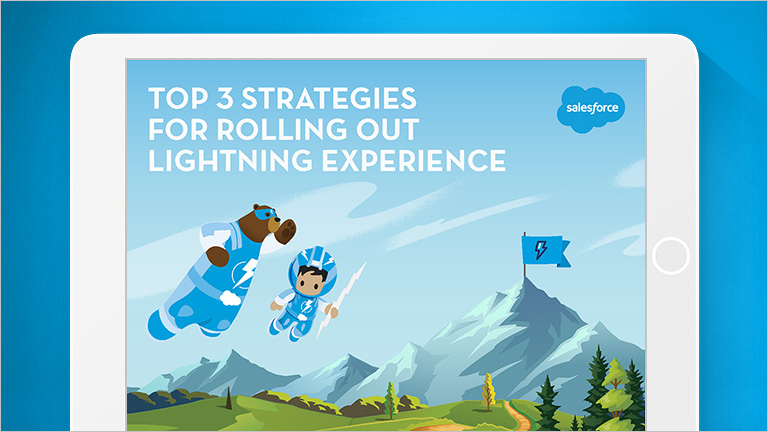 "Image that says ""Top 3 Strategies for Rolling Out Lightning Experience"""