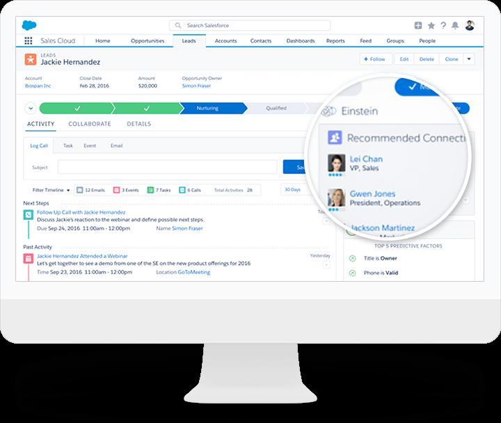 Salesforce Einstein 联系