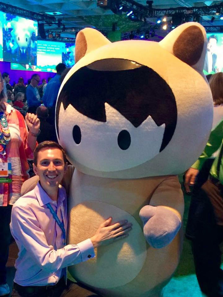 Sam with Astro at Dreamforce 2018