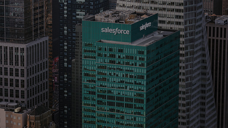 A photo of the Salesforce building in New York City