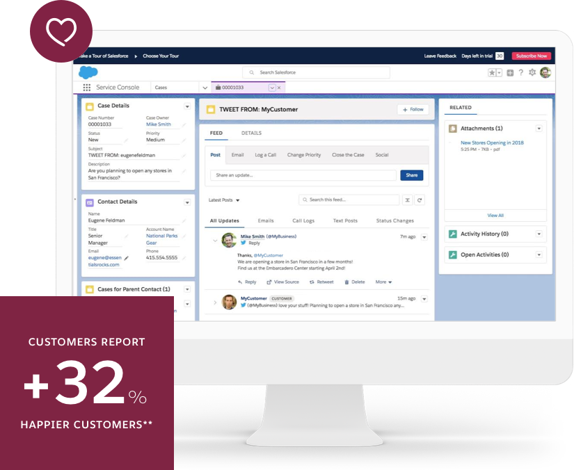 Get the right small business tools for your business. Salesforce Essentials lets you start instanly with easy setup, sell smarter and faster, and provide standout service for every customer.