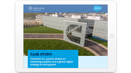 Cummins Case Study report cover shown in tablet device