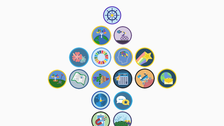 Image showing various myTrailhead badges