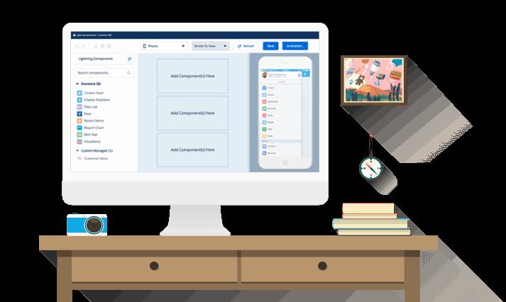 Application Development from Salesforce Lightning Platform