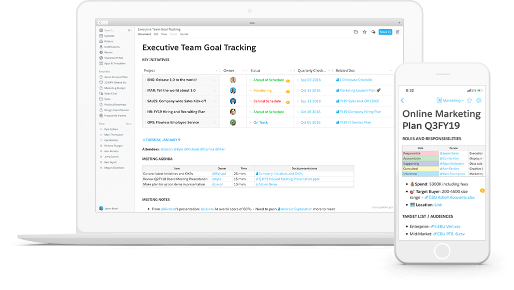 Improve your team's productivity and collaboration with Quip