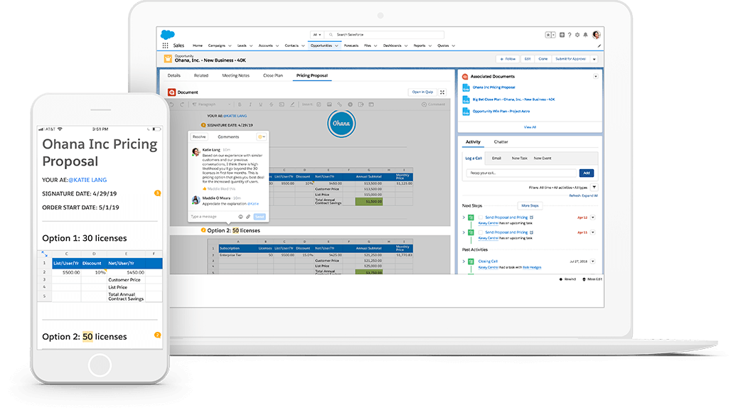Screen in Salesforce showing Salesforce Anywhere document