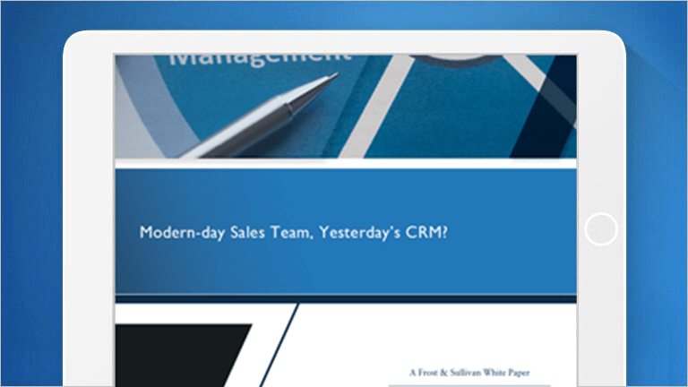 "E-Book Cover for ""Modern-day Sales Team, Yesterday's CRM?"""