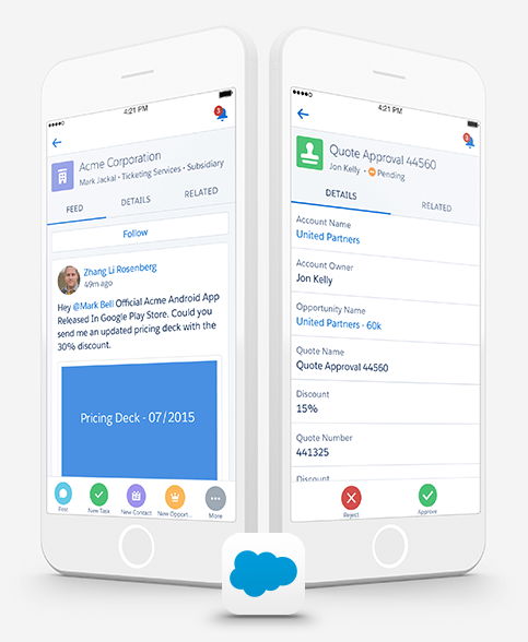 salesforce app manage your crm data from anywhere salesforce com rh salesforce com MobileLite Salesforce Salesforce Icon