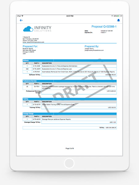 CPQ Solutions Salesforce Quotetocash Solutions Salesforcecom - Salesforce invoicing app