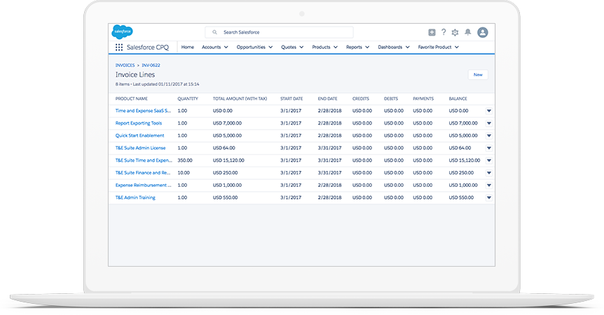 Salesforce CPQ Automated Invoicing Salesforcecom - Invoice software demo