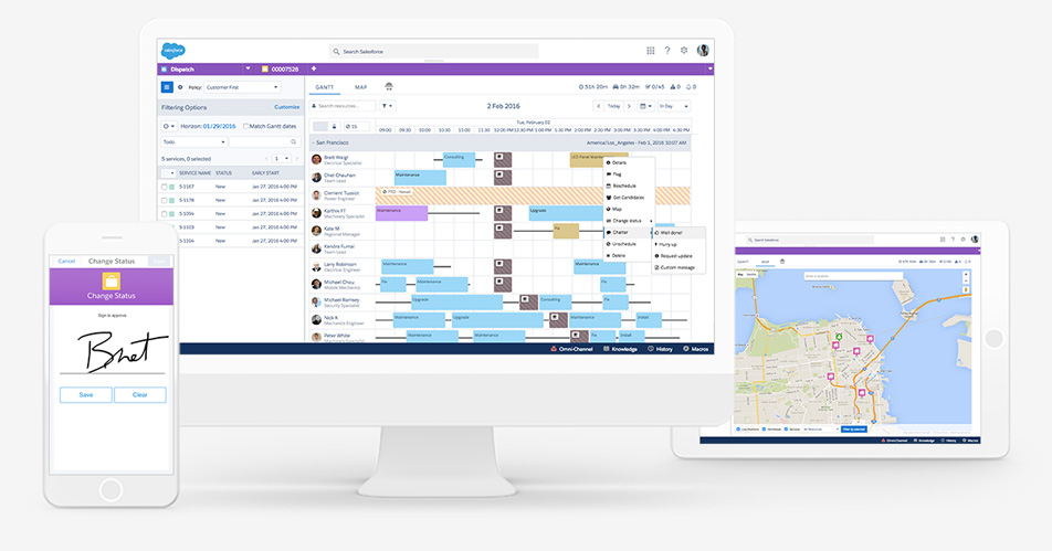 Salesforce Field Service Management : Web based field service management software for your
