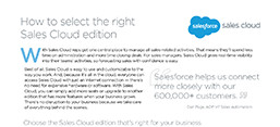 Sales Cloud Lightning datasheet